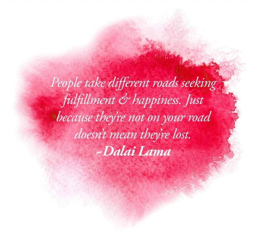 <b>What path are you on?</b> What do you think of others that are on different roads? 7