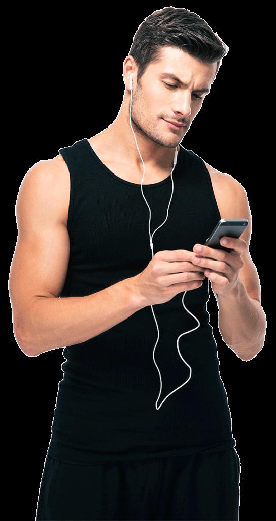 Man listening to Rochelle L. Cooks Behaviorally based weight loss program
